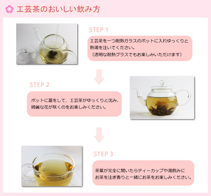 工芸茶の飲み方